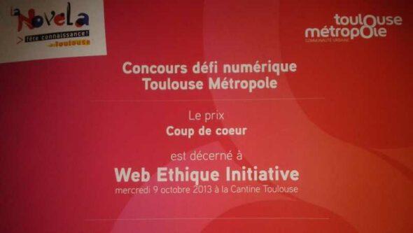 Lauréat Open Data Toulouse Métropole. mywei : coup de coeur concours défi numérique